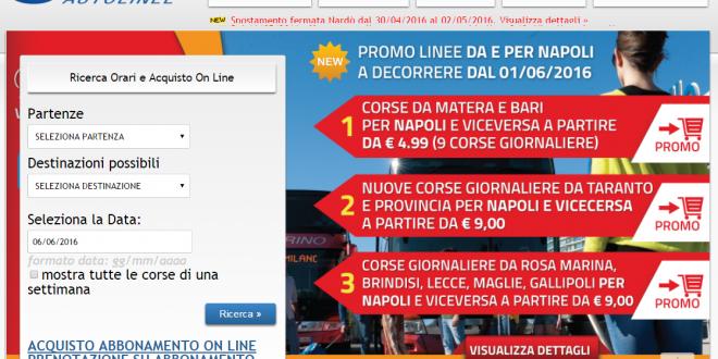 Marino Autolinee da Napoli per Basilicata e Puglia a partire da 5€ a tratta
